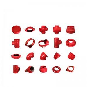 큰 직경의 연성 철 파이프 피팅 플랜지 파이프 피팅 제조 업체 크기