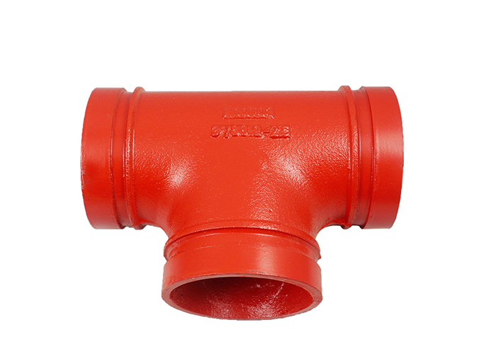 best price 1″ grooved connection cast iron pipe fittings test tee y pipe fitting