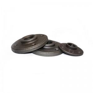 decorative wrought iron black floor flange 1 1 2 inch cast iron flange raised face
