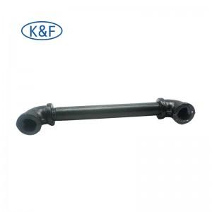 Pipe Nipple Elbow Tee Black Fittings Floor Flange Shelves Bracket Coat Hook Clothes Rack Home Decor Fittings