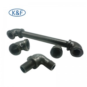 Black Pipe Fittings Steel Pipe Nipple Book Shelves Bracket Hook Clothes Rack Home Decor Fittings