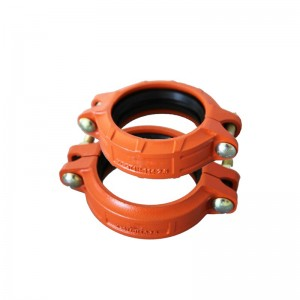 FM UL certificate ductile iron flange pipe fittings grooved rigid coupling