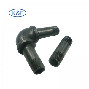 Malleable Iron Fittings Extension Nipple Elbow Connector Shelves Bracket Wall Mounted Floor Flange for Decoration