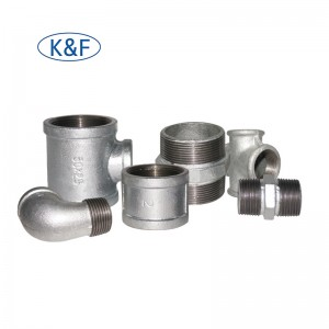 Kanaif Malleable Iron Fittings FM UL Approved Banded Galvanized Fittings