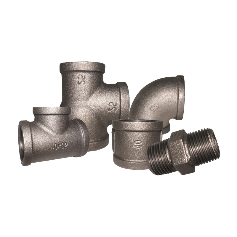 black malleable iron pipe fittings bsp seller threaded fittings