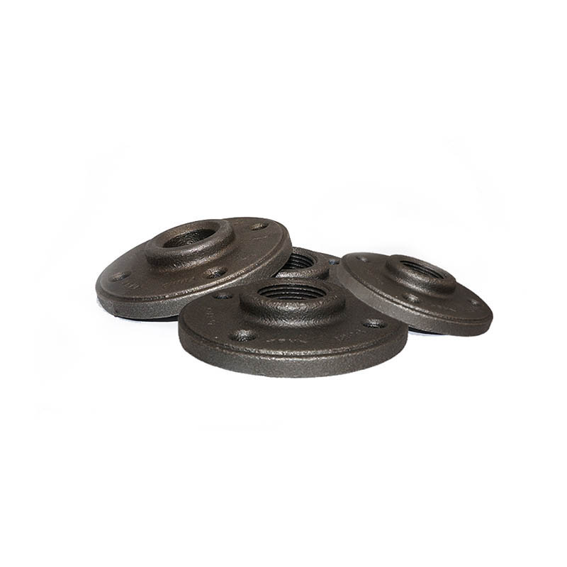 black cast iron flange fittings polished threaded 1 2 inch threaded floor flange