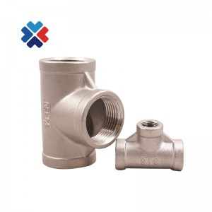 304 stainless steel threaded equal tee
