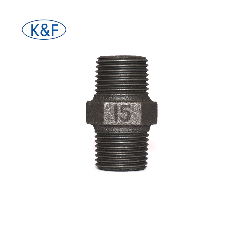 hex nipple cast iron fittings galvanized pipe npt 3/8 pipe nipple