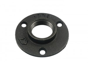 hole iron pipe malleable 2″  black malleable threaded floor flange