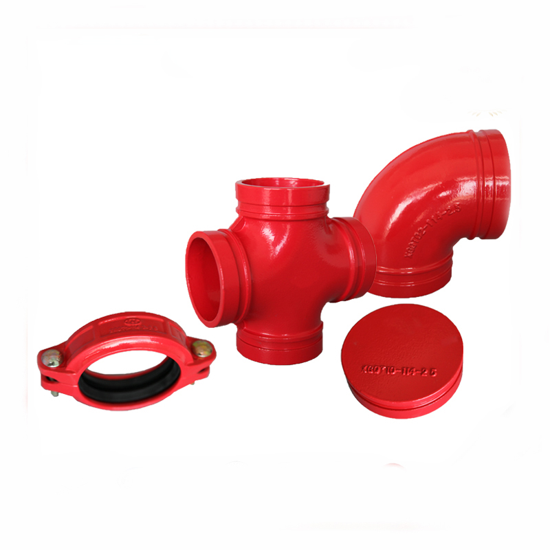 grooved ductile iron pipe fittings ductile cast iron pipe fittings all flanged tee