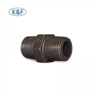 din/ astm/iso fitting standard black carbon steel both threaded nipple en 10241 barrel nipple