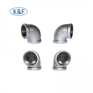 Elbow 90 Pipe Fitting beaded Malleable Iron BSP NPT Threaded Fittings for Gas Water Pipeline