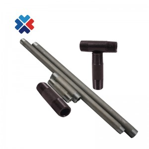 Air hose fittings 3/4 inch NPT black carbon swage nipple hydraulic hose plumbing fittings  SCH40 thickness carbon steel pipes
