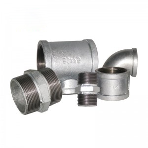 Plumbing Fittings Malleable Iron Hot Galvanized BSP NPT Threaded Pipe Fittings