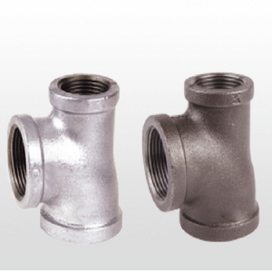 Free sample black malleable iron pipe fittings cast iron  tee socket for fire fighting system