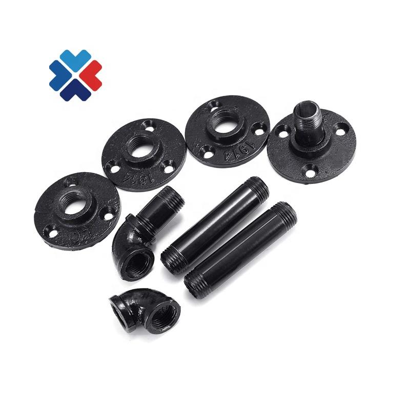 bracket iron black pipe fittings Wall Hardware Decor pipe