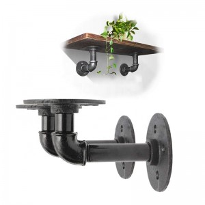 pipe shelf bracket iron black pipe fittings Wall Hardware Decor pipe floor flange decorative fittings steampunk furniture